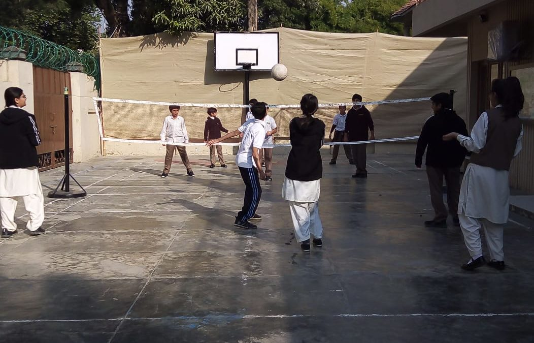 Ongoing Volley Ball Practice